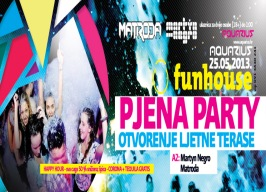 Aquarius - Funhouse: Pjena party - 25.05.
