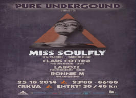 Klub Crkva - Pure Underground: Miss Soulfly - 25.10.