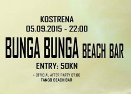 Bunga Bunga beach bar - Dita closing - 05.09.