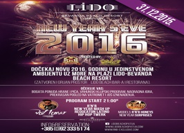 LIDO Bevanda Beach Resort - New Year's Eve - 31.12.
