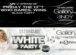 Gallery Club Zagreb - Friday 13 - Black party - 13.05.